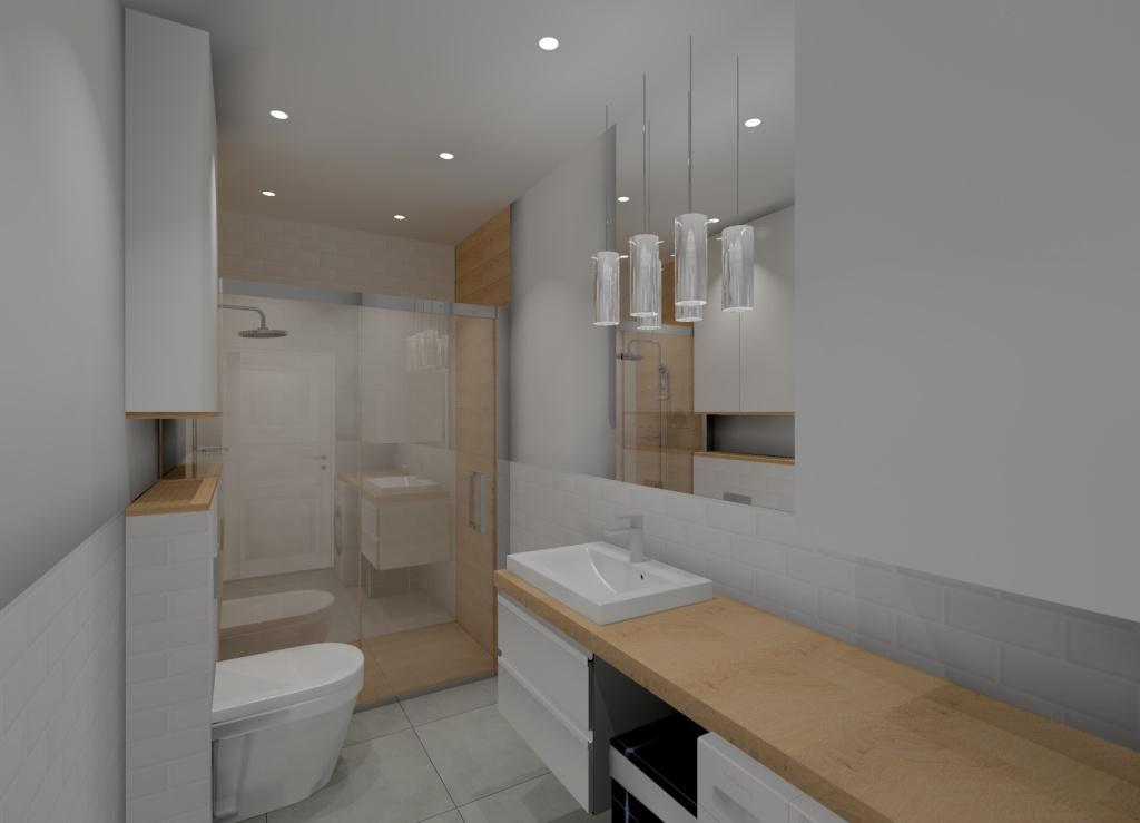 Skandynawska łazienka Pomysł Na Projekt Aranżację